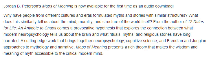 Será exprimir medio litro  Audiobook ] Maps Of Meaning By Jordan Peterson ( High Quality ...