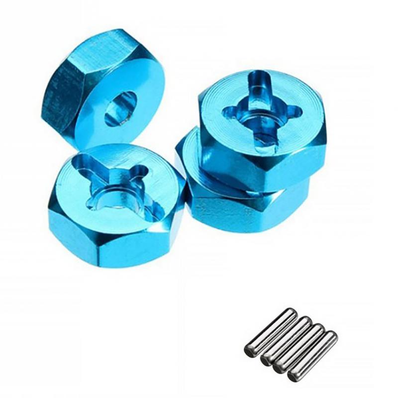 4Pcs//set A949 A959-B A969 A979 K929 Wheel Rim Hex 7mm Aluminum alloy Adaptey1