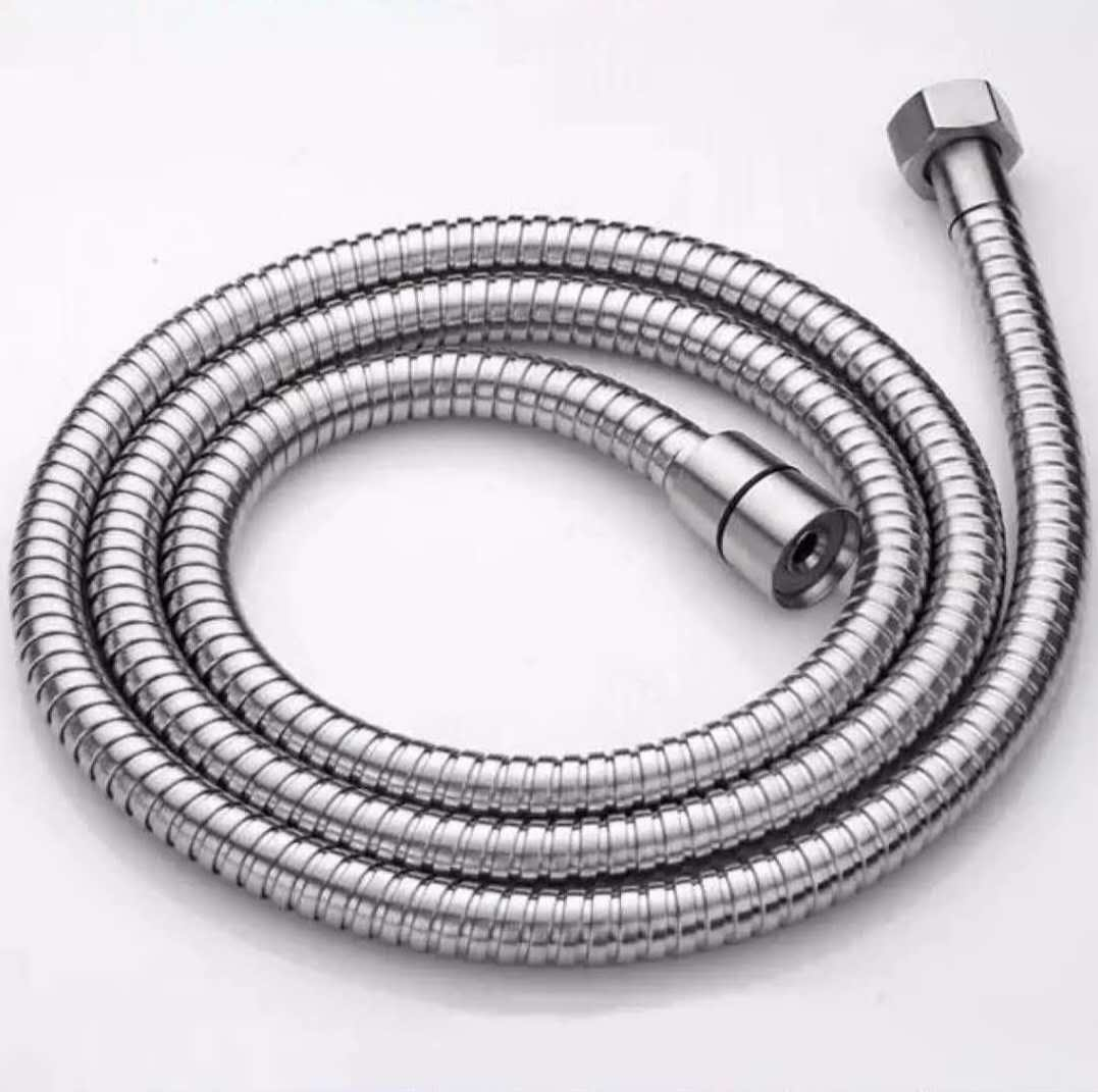 Silver 6 AN Stainless Steel Hose W// Stainless Steel Inner Core