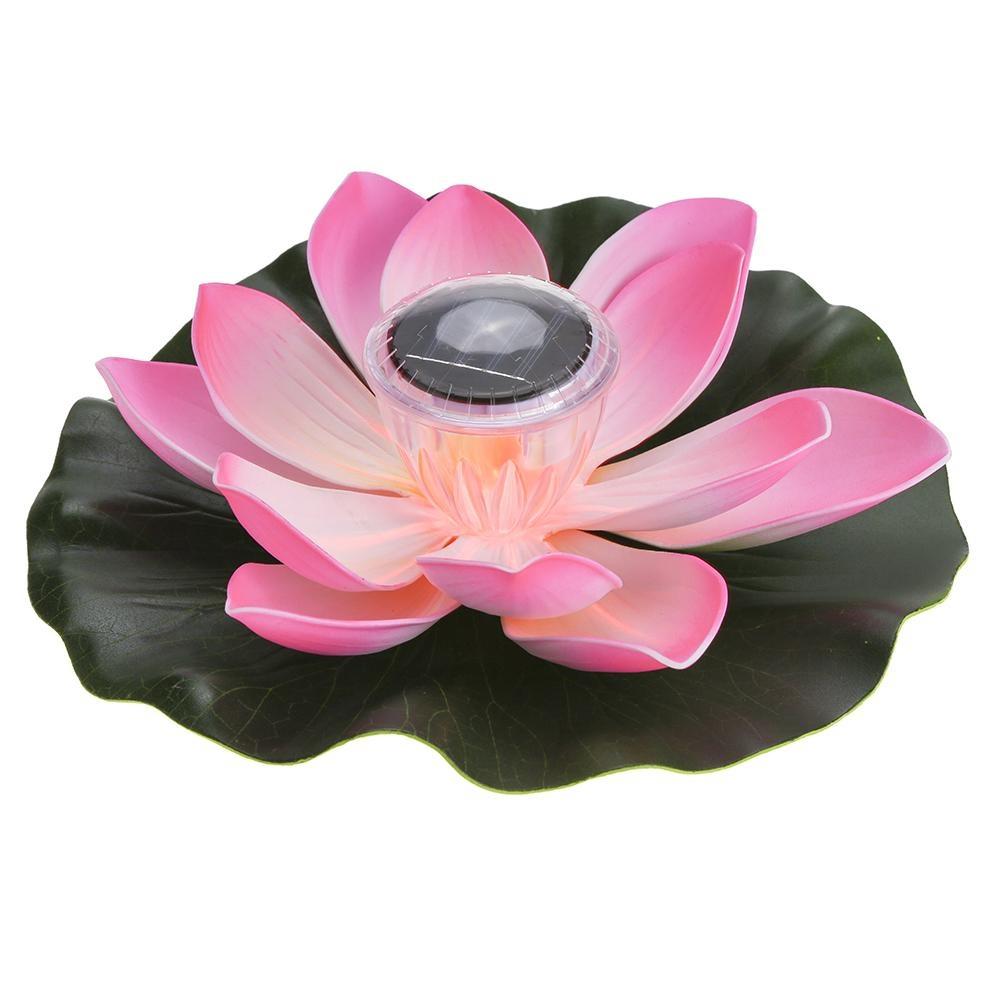 Lotus Light,Sundlight Floating Pond Decor Solar Lotus Flower LED ...