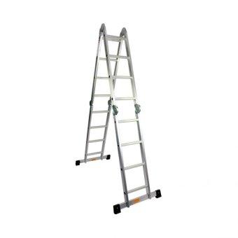 1.2 Thickness Aluminum 4x6/4 Fold Super Ladder (Silver)
