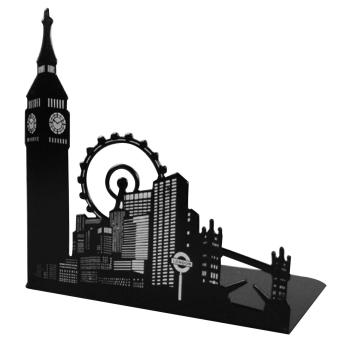 1 Pair of Famous Scenic Spots Style Metal Iron Desk Art BookendNon-skid Art Bookends Bookrack Book Ends Rack Big Ben - intl Price Philippines