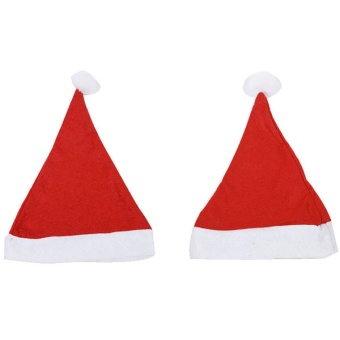 1 PC Hot selling!White Rim Santa Christmas Hat Christmas Bonnet with Braids for Adult Women christmas decoration - intl - picture 2