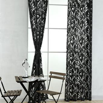 1 PCS Multiple colors ready made semi-blackout blind panel fabricsfor window black - 2
