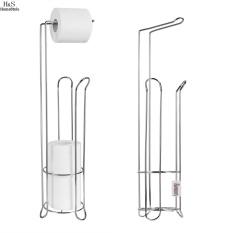 1 PCS Stainless Steel Toilet Paper Roll Stand Holder Bathroom Storage Rack Tissue Organizer Toilet Accessories #202 - intl Philippines
