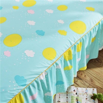 1 Piece Soft Bed Skirt Bedspreads Mattress Protective Cover Anti Slip Bed Skirt Fitted Bed and Bedspread Linen Skirts Bed Sheet Home Hotel Decor 120X200CM - intl - 2