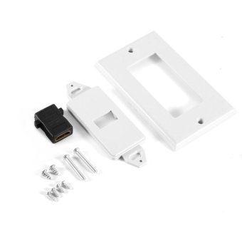 1 Port Gold Plated HDMI with Ethernet Wall Plate Face Cover forHome Theater DVD(White) - intl - 2
