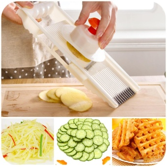 1 Set 7 in 1 Vegetable Fruit Potato Slicer Cutter Peeler Chopper Dicer Multi-function ABS Peeler Grater Slicer Kitchen Tool - intl