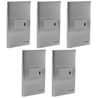 1-Way Stainless Illuminated Switch -SP0-S14-PK-5set - 2