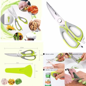 10 in 1 Multipurpose Professional-Grade Mighty Shears StainlessSteel Blades Scissors