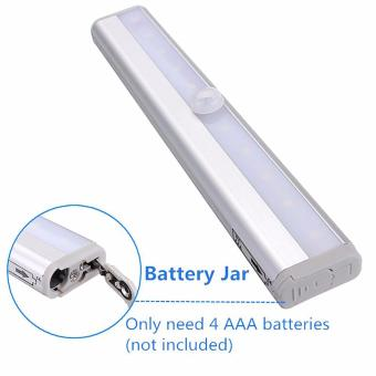 10 Super Bright LED PIR Sensor Portable Wireless Wall ClosetCabinet Night Light/Stairs Light/Drawer/the wardrobe Light withMagnetic Strip Stick-on Anywhere Operated - intl - 5