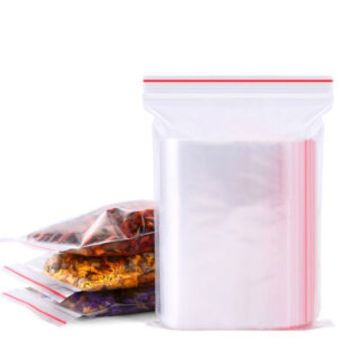 100 pieces 120mmx85mm thickness 0.04mm transparent PE red zipperziplock bags for storage - Intl - 2