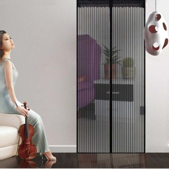 100 x 210cm Magnetic Door Anti Mosquito Curtain Anti Insect ScreenBlack