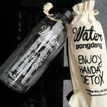 1000ML Water Pongdang Bottle Sport Fruit Juice Water Cup PortableTravel Bottle Bag White - 2