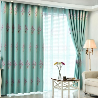 100*250cm Elegant Luxury Floral Pattern Window Curtains WindowBlackout Curtain for Living Room Bedroom Home Decoration WindowTreatments - intl