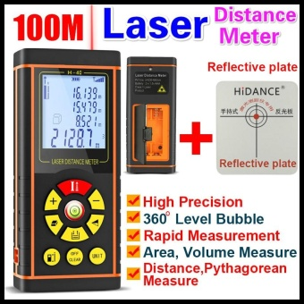 100M 12 IN 1 Digital Laser Distance Meter Electronic Ruler DigitalTelemetric Laser Rangefinder Optical Tape Range Finder DiastimeterMeasure Roulette Measuring Tool - intl