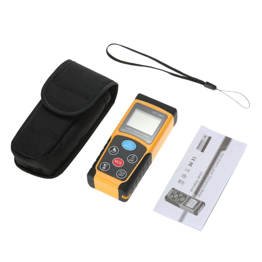 100m Portable Handheld Digital Laser Distance Meter High PrecisionRange Finder Area Volume Measurement .