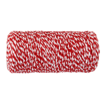 100M Wrap Gift Cotton Rope Ribbon Twine Rope Cord String Red, White - 3