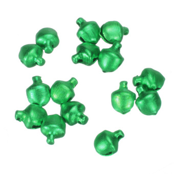 100Pcs Colorful Iron Loose Beads Christmas Jingle Bells Pendants Charms 8x6mm Green - picture 2