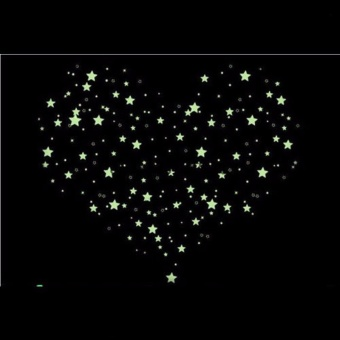 100PCS Colorful Luminous Home Glow In The Dark Stars Wall Stickers- intl - 2