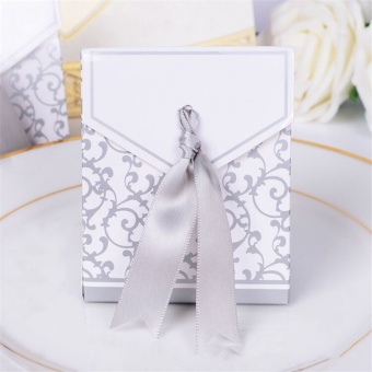 100pcs Favor Sweet Cake Gift Candy Boxes Bags Anniversary PartyWedding Favours Birthday Party Supply - intl - 2