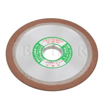 10CM Grit150 Plain Resin Diamond Grinding Wheel Silver - 3