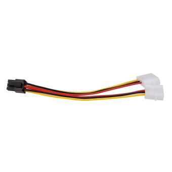10PCS Molex (4 Pin) to PCI-E (6 Pin) Power Converter Adapter Connector - 2
