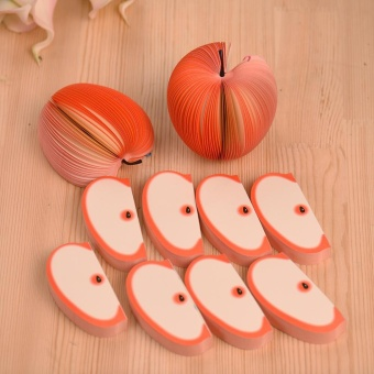 10pcs/pack Cute Notes Creative DIY Apple Fruit Memo Pads ScratchPaper School Office Supplies Stationery Children Gift - intl - 2