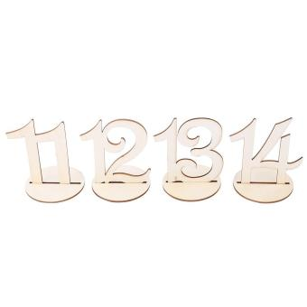 10pcs/Set Wooden Table Numbers Sign Stand Holder for Wedding Party Decor - intl - 2