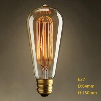 10W E27 220-240V Edison Light Bulb, Retro Yellow Light W-filament Bulb Coffee House Decor Industrial Style Lamp Power:10W - intl - 3