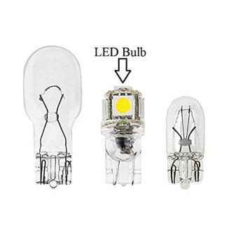 10x LED Replacements for Malibu Landscape Light 5 Led / smd PerBulb 194 T10 T5 Wedge Base Cool White 12v Dc 1407ww - 4