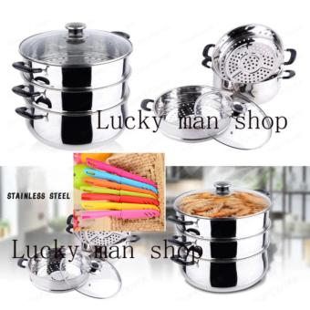 11 in 1 COOKING STEAMING POT Steamed and Double-boiled 28cmSTAINLESS STEEL STEAMER/ STOCK POT and knife set