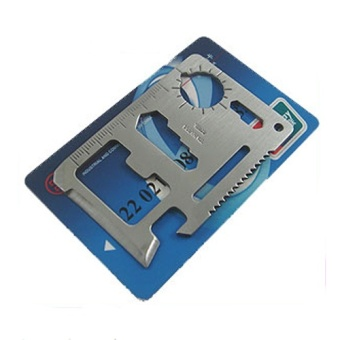 11 in 1 Pocket Camping Hunting Tactical Credit Card Multi Tools Survival Military Fillet Survival Tool Kit - intl - 4
