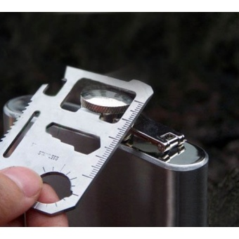11 in 1 Pocket Camping Hunting Tactical Credit Card Multi Tools Survival Military Fillet Survival Tool Kit - intl - 3
