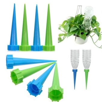 12 Water Control Drip Cone Spike Plant Flower Waterers Bottle Irrigation System - intl