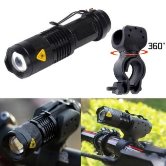 1200lm Cree Q5 LED Cycling Bike Bicycle Head Front LightFlashlight+360 Mount - intl