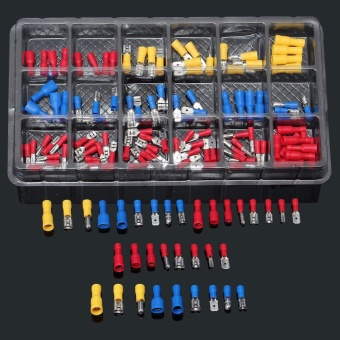120Pcs Assorted Insulated Electrical Wire Terminal Crimp Connector Spade Set Kit - intl - 2