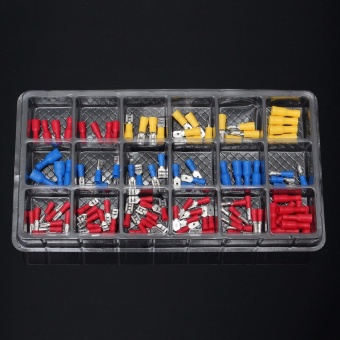 120Pcs Assorted Insulated Electrical Wire Terminal Crimp Connector Spade Set Kit - intl - 4