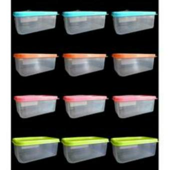 12pcs Hitop Plastic Durable Food Keeper Lunch Box 749g