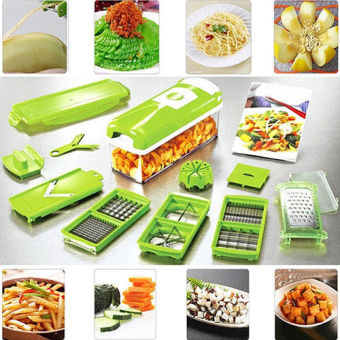 12pcs Slicer Vegetable Fruit Peeler Cutter Chopper Grater Salad Kitchen Tool Set
