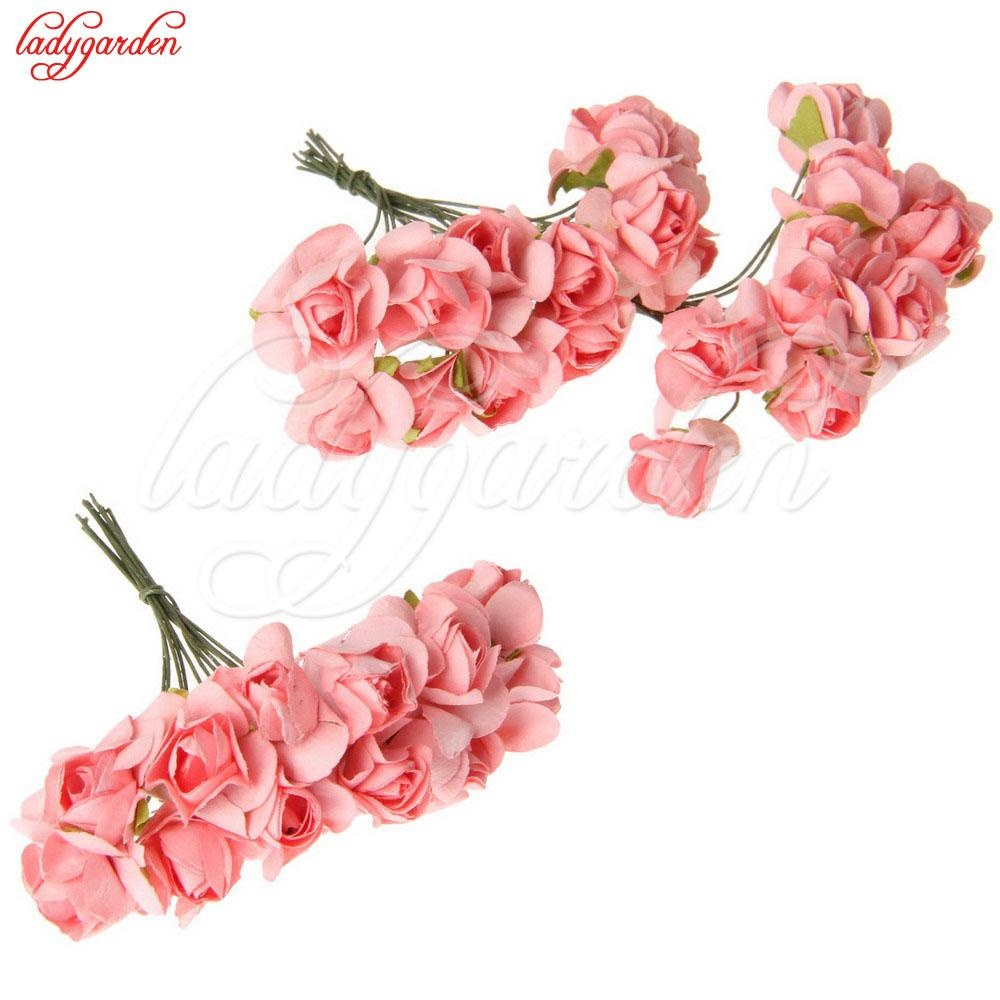 Philippines 12pcslot Mini Silk Artificial Rose Bouquet Wedding