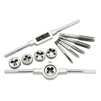 12Pcs/Set Metric Adjustable Taps Dies Wrench Handle Tap And Die KitM3-M12 Screws - intl - 3
