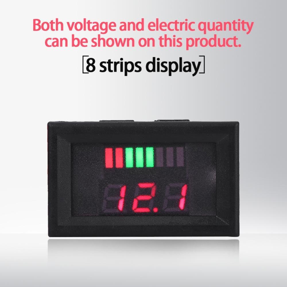 Philippines 12v Acid Lead Batteries Indicator Battery Capacity Voltage Meterdual Display Led Tester Blue