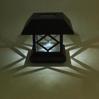 1.2V Garden Lawn Solar White LED Pillar Lamp Outdoor Cottage yardFence Light - intl - 2