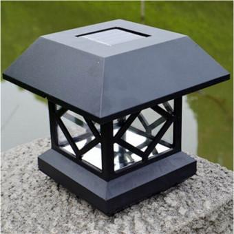 1.2V Garden Lawn Solar White LED Pillar Lamp Outdoor Cottage yardFence Light - intl - 3