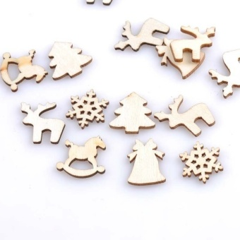 150pcs 20mm Plain Natural Wood Hanging Ornaments DIY Wooden CraftsChristmas Decoration by LuckyG - intl - 2