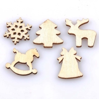 150pcs 20mm Plain Natural Wood Hanging Ornaments DIY Wooden CraftsChristmas Decoration by LuckyG - intl - 3