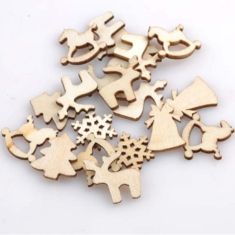150pcs 20mm Plain Natural Wood Hanging Ornaments DIY Wooden CraftsChristmas Decoration by LuckyG - intl