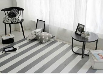 150X200CM Modern Striped Carpets For Living Room Home Bedroom RugsAnd Carpets Coffee Table Brief Area Rug Children Play Mat,59X79in -intl - 2