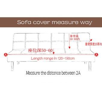 155-195cm Elasticity Folding No Handrail Slipcover #Coffee sofa cover(not including pillow) - intl - 3